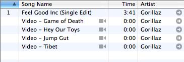 Vidéos dans iTunes