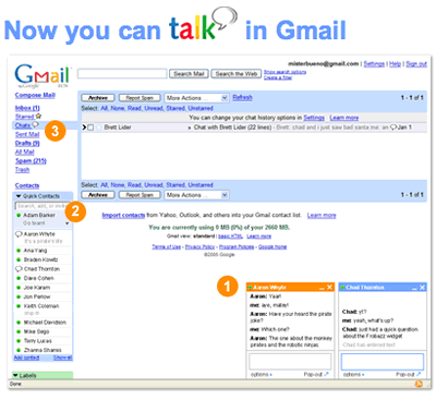 Talk in Gmail