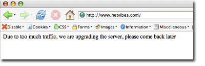 Netvibes down