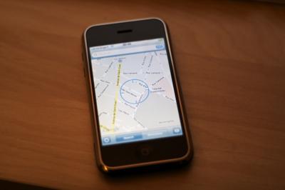 Géolocalisation sur iPhone 1.1.3